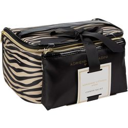 Adrienne Vittadini Zebra Print Cosmetic Bag Set