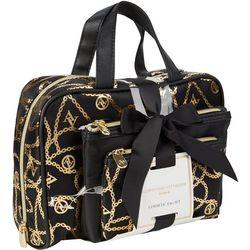 Adrienne Vittadini Chain Link Print Cosmetic Bag Set