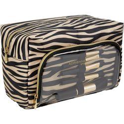 Adrienne Vittadini Zebra Cosmetic Bag & Makeup Brushes