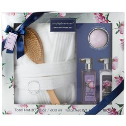 Simple Pleasures Peony Plum Bath Spa Robe Set