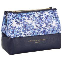 Adrienne Vittadini Dual Pyramid Wildflower Cosmetic Case