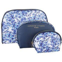 Adrienne Vittadini 3-pc. Floral Print Dome Travel Bag Set