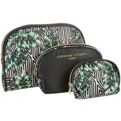 Adrienne Vittadini 3-pc. Palm Print Dome Travel Bag Set