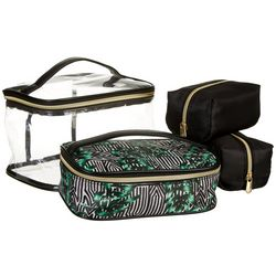 Adrienne Vittadini Striped Palm 4-pc. Train Cosmetic Set