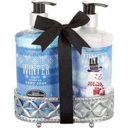 Simple Pleasures Winter Snow Scented Hand Soap & Cream Set