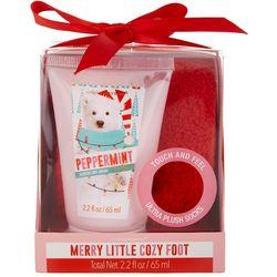 Simple Pleasures Peppermint Foot Cream & Cozy Socks Set