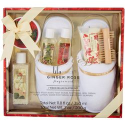 Lila Grace 7-pc. Ginger Rose Foot Care Set