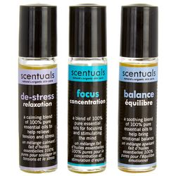Scentuals 3-pk. For The Mind Roll-On Essential Oil Set