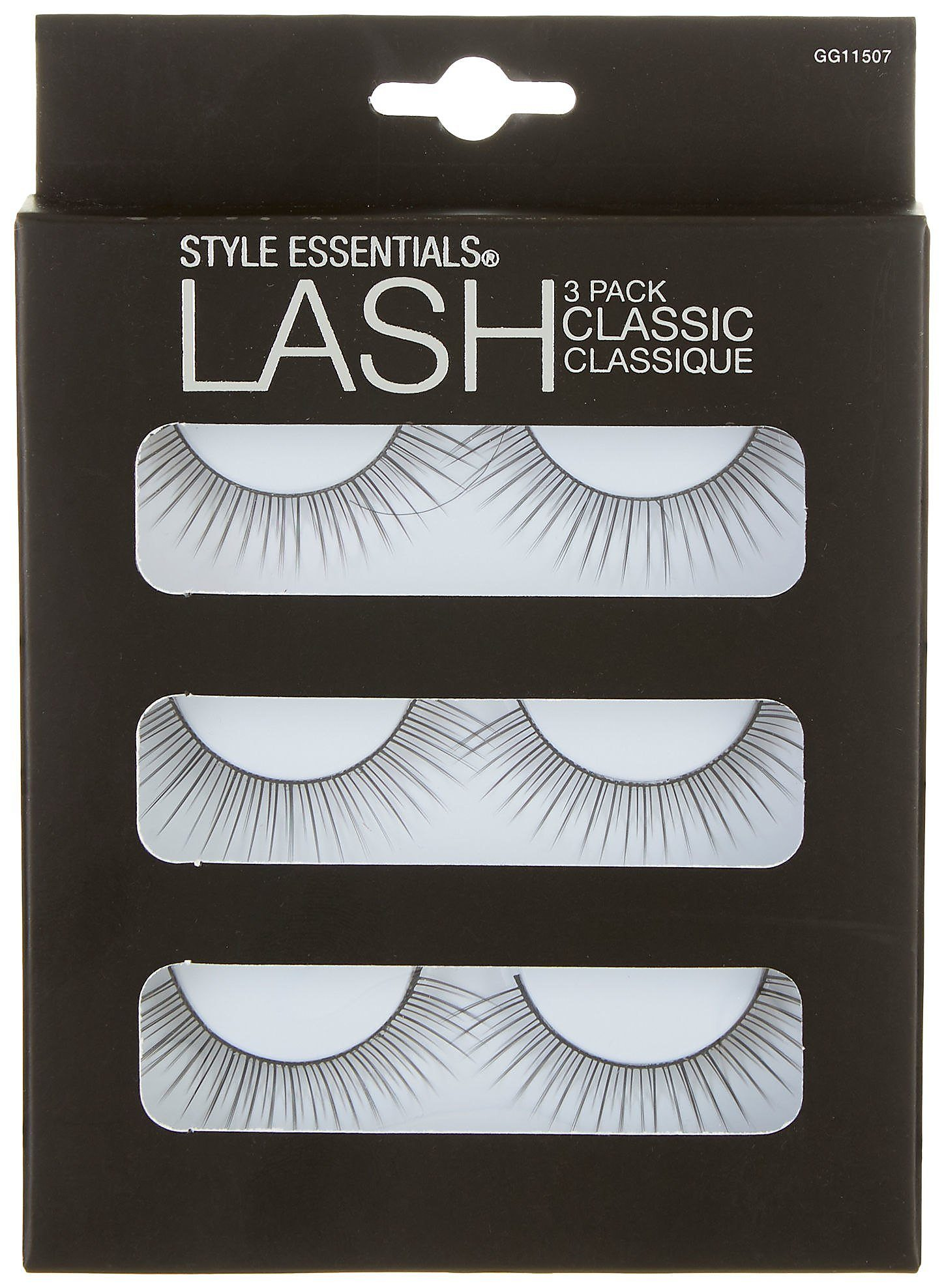 65f3965f4d0 Details about Style Essentials 3-pk. Classic False Lashes One Size Black