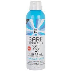 Bare Republic Vanilla Coco SPF 50 Mineral Sunscreen Spray