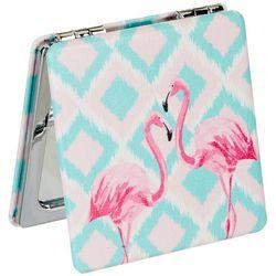 Beauty Myxx Pink Flamingo Double Sided Pocket Mirror