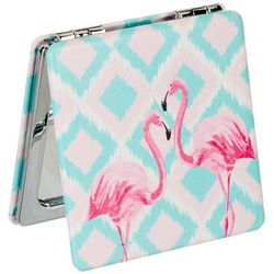 Beauty Myxx Pink Flamingo Double Sided Pocket Mirror
