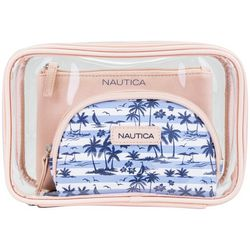 Nautica 3-pc. Island Print Cosmetic Bag Set