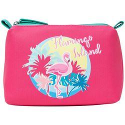 Stella & Max Flamingo Island Micro Cosmetic Bag