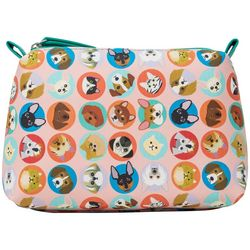Stella & Max Dogs Cats Dots Cosmetic Bag