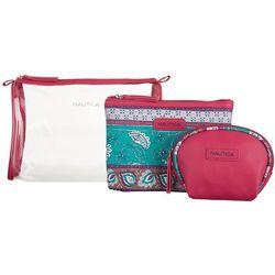 Nautica 3-pc. Floral Print Cosmetic Bag Set