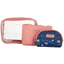 Nautica 3-pc. Sea You Later Cosmetic Bag Set