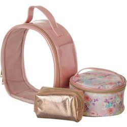 Under 1 Sky 3-pc. Pink Floral Travel Bag