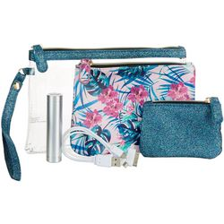 Under 1 Sky 3-pc. Hibiscus Charger Zipper Pouch Set