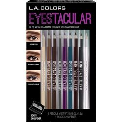 L.A. Colors Cosmetics Eyestacular 10-pc. Eyeliner Set
