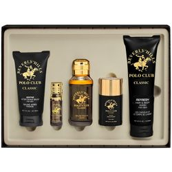 Beverly Hills Polo Club Classic Mens 5-pc. EDT Set