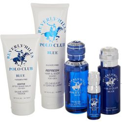 Beverly Hills Polo Club Blue Mens Fragrance Set