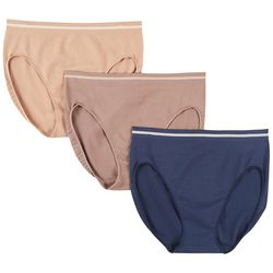 Ellen Tracy 3-pk. Solid Seamless Hi-Cut Panties 51220P3