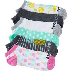 Kensie Womans Pineapple Multi Print 6-pk. Socks