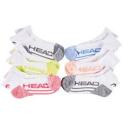 Head Womens 6-pk. Colorblock Mesh Quarter Socks