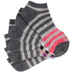 Kensie Womens 6-pk. Heathered Stripe Low Cut Socks
