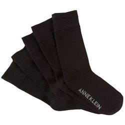 Anne Klein Womens 6-pk. Solid Trouser Socks