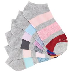 Esprit Womens 6-pk. Heathered Stripe No-Show Socks