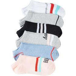 BCBG Womens 6-pk. Busy Colorful No Show Socks