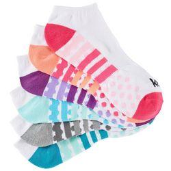 Kensie Womens 6-pk. Striped Dot Print No Show Socks