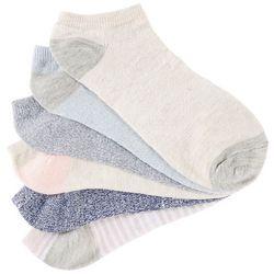 BCBG Womens 6-pk. Heathered Low Cut Socks