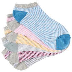 BCBG Womens 6-pk. Striped Low Cut Socks