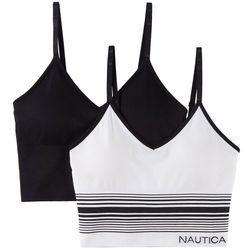 Nautica 2-pk. Striped Seamless Longline Comfort Bra NT4960