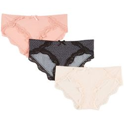 Marilyn Monroe 3-pk. Floral Lace Trim Hipster Panties MM8071