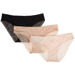 Marilyn Monroe 3-pk. Solid Lace Trim Hipster Panties