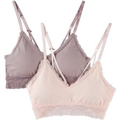 Marilyn Monroe 2-pk. Seamless Lace Trim Bralettes MM2774