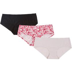 Laura Ashley 3-pk. Mid Rise Laser Cut Hipster Panties LS8319