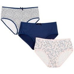 Laura Ashley 3-pk. Microfiber Brief Panties LS7685