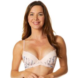 Laura Ashley Floral Lace Trim Push Up Underwire Bra LS5640
