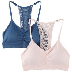 Laura Ashley 2-pk. Seamless Lace T-Back Bralettes LS2583