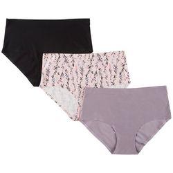 Laura Ashley 3-pk. Laser Cut Brief Panties LS4063