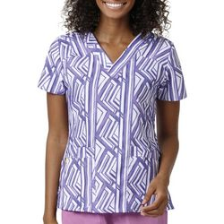 WonderWink Womens Sporty Iris Reign V-Neck Scrub Top