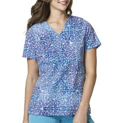 WonderWink Womens High Performance Stain Glass Scrub Top