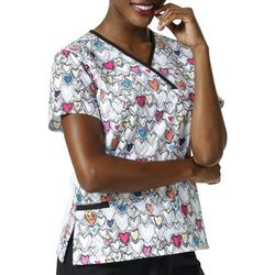 WonderWink Womens Wink with Love Y-Neck Scrub Top