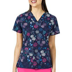 WonderWink Womens V-Neck Hand Picked Scrub Top