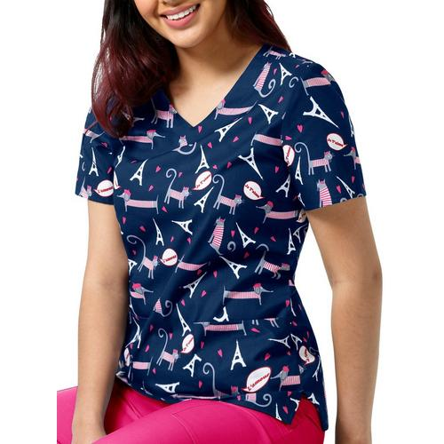 0fead7f8e2f Zoe + Chloe Womens French Kiss V-Neck Scrub Top | Bealls Florida